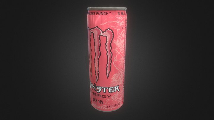 Monster Energy Pipeline Punch 355ml JPN 3D Model