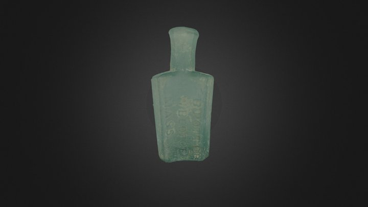 Potter's Liniment Bottle 3D Model