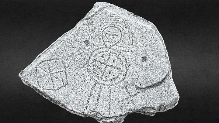 MA088-058003 Knappaghmanagh Crossinscribed stone 3D Model
