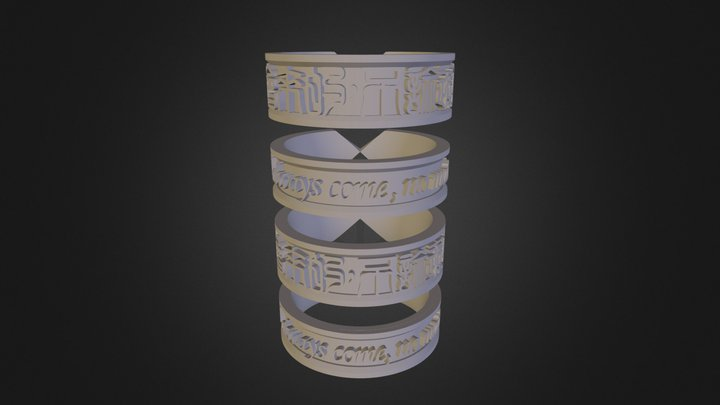 Happiness Ring 3D Model
