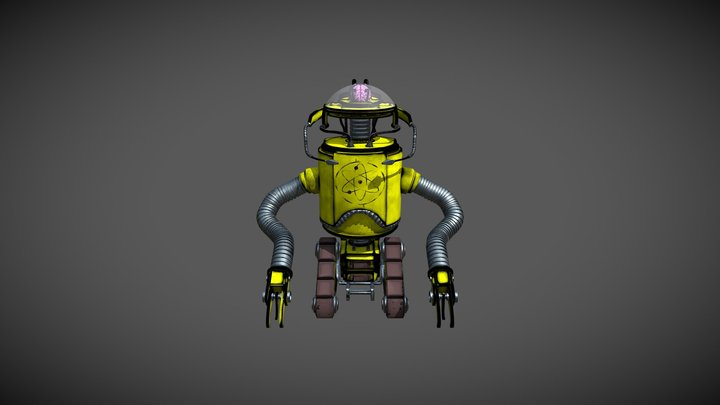 Stylized Robot - Final 3D Model