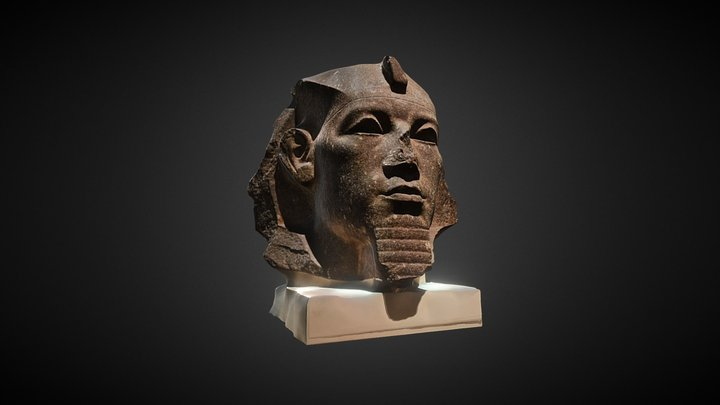 Granite head of Amenemhat III 3D Model