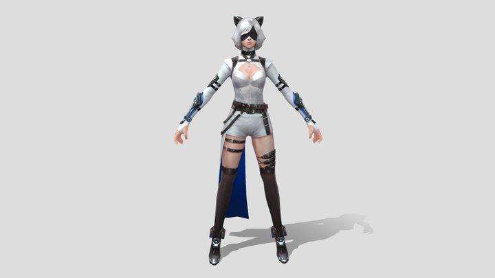 [EX] Model Girl White 3D Model