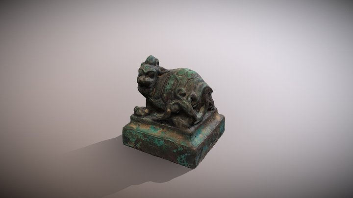 Chinese Tortle wax stamp 3D Model