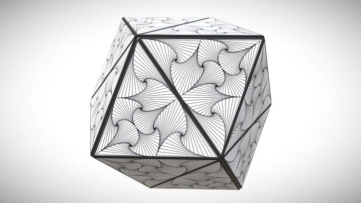 "GeoCube ""Line1"" - Sphere 3D Model"