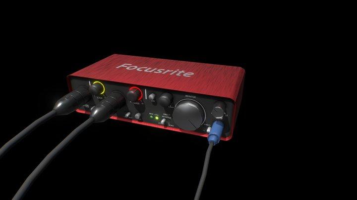 Focusrite 2i4 3D Model
