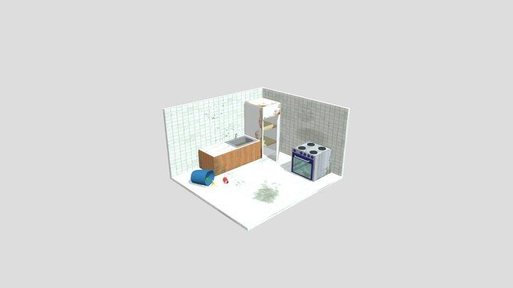 Cozinha Suja 3D Model