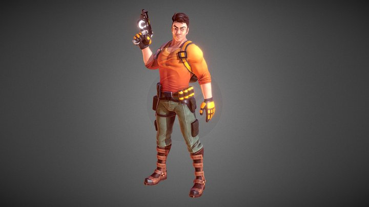 JEREMY - Action Adventure Character - AAA Series 3D Model