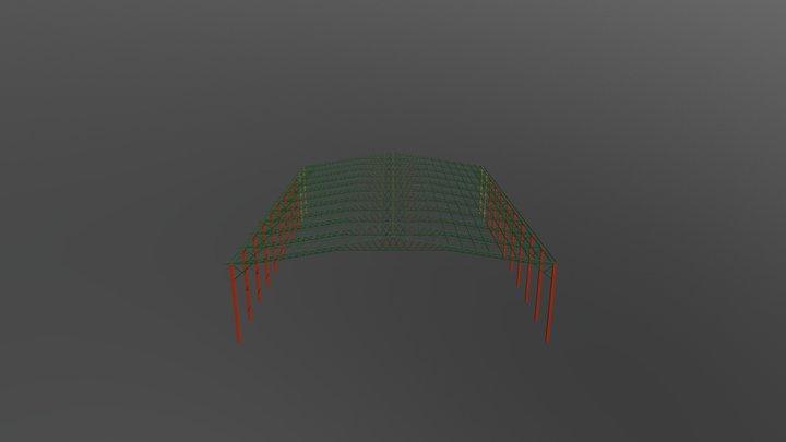 Galpão 35 metros vão livre 3D Model