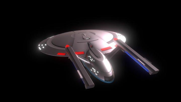 Virgo Class Starship 3D Model