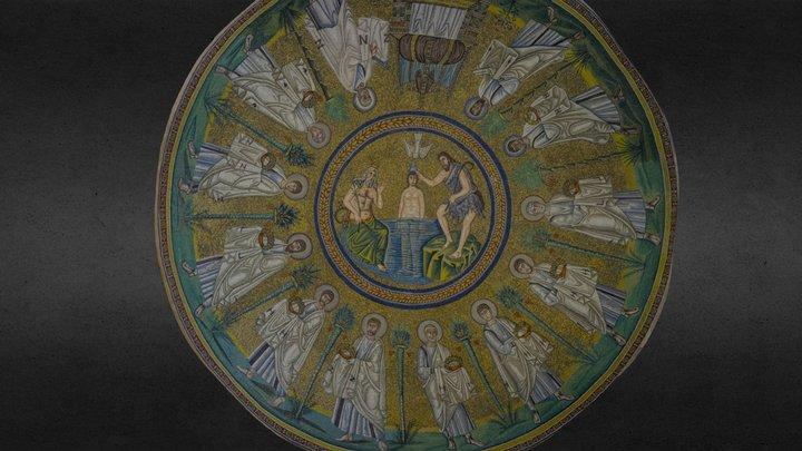 Il Battesimo di Cristo Mosaico Ver 3.0 3D Model