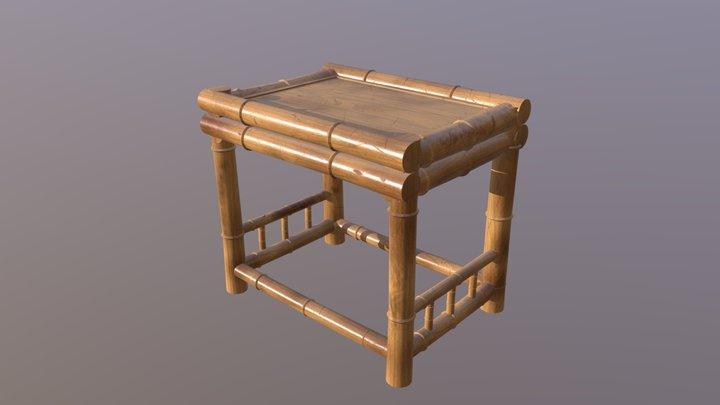 Bamboo Table 3D Model