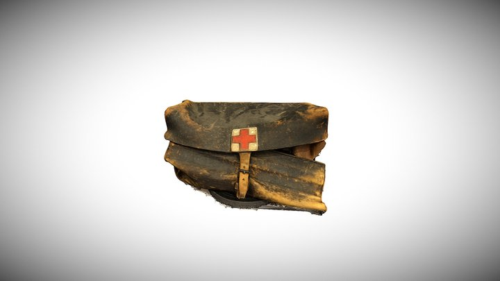 A medical bag used by miners 3D Model