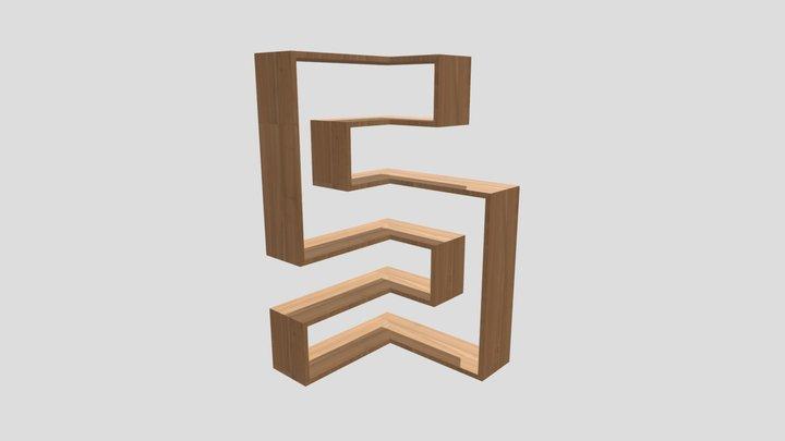 Boekenkast 2 3D Model