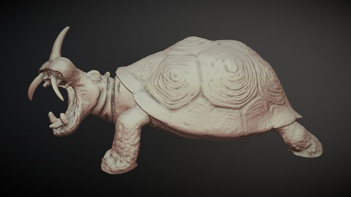 Ridge-bellied hippopototortoise, by Alex Kirk 3D Model