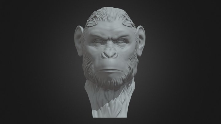 Hail Caesar (Planet of the apes) 3D Model