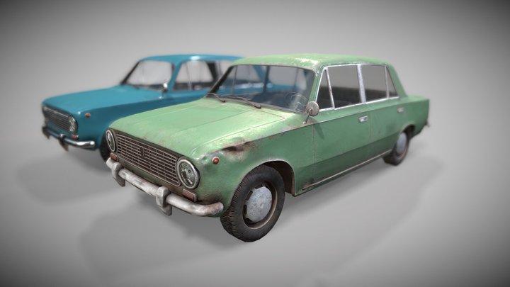 80's Russian car 3D Model