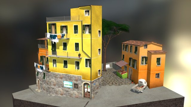 CityScene Cinque Terre 3D Model