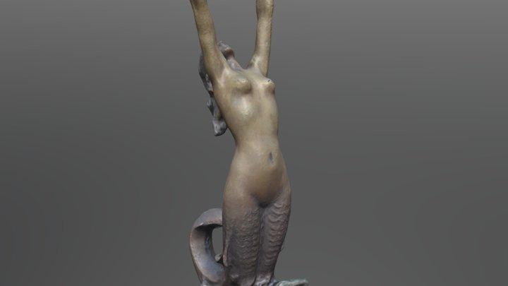 Mermaid Lamp Base 3D Model