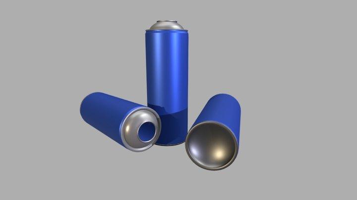 Tinplate Aerosol Tops & Bottoms Assembled 3D Model