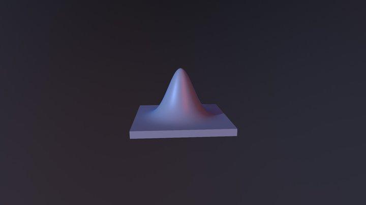 Normal Distribution 3D Model
