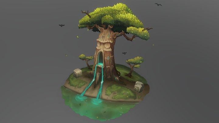 CGMA Stylized Asset Creation - 2.5D Tree 3D Model