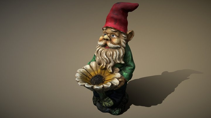 My jaw-dropping 3D Gnome 3D Model