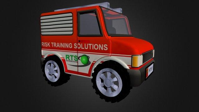 Cartoon Ambulance 3D Model