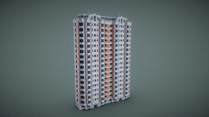 Russian residential building: P-44K 3D Model