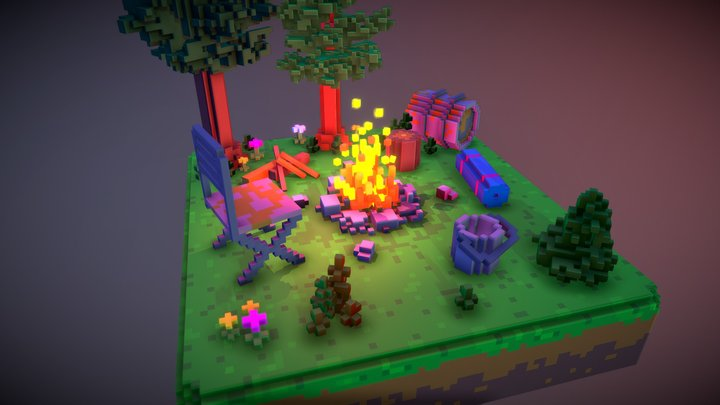 campfire at night#2 3D Model