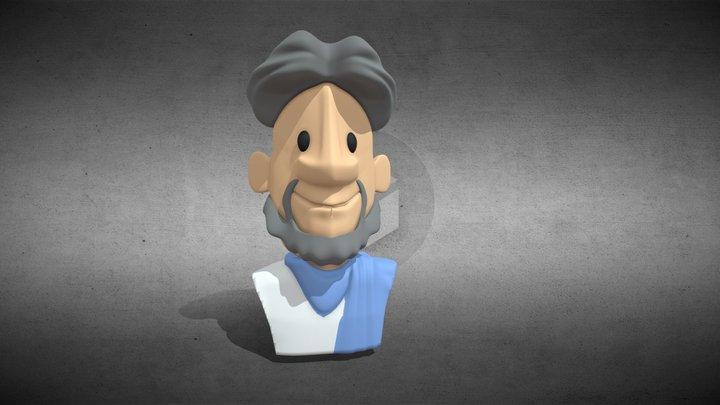 Aristoteles / Aristotle 3-D figurine / buste 3D Model