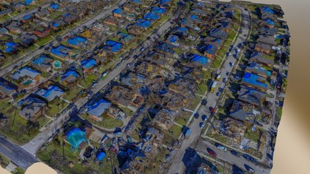 Rowlett,Texas 2015 Tornado Damage Sample 3D SAR 3D Model