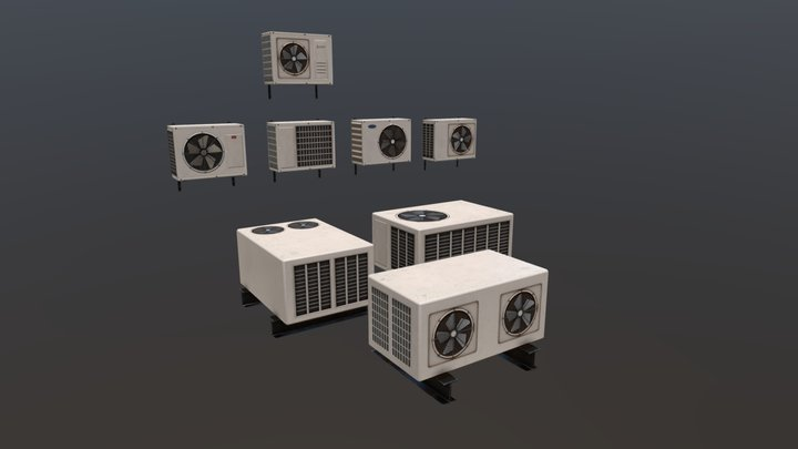 air conditioners 3D Model
