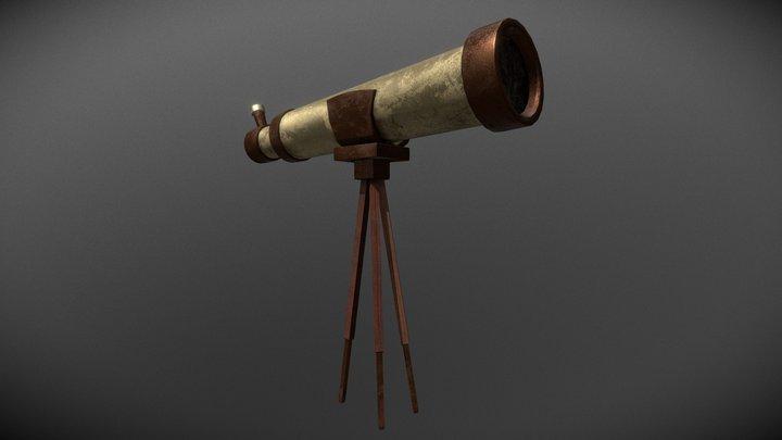 Vintage Telescope 3D Model