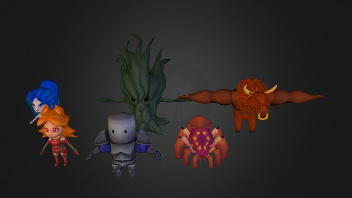 Fantasy Character Pack 3D Model
