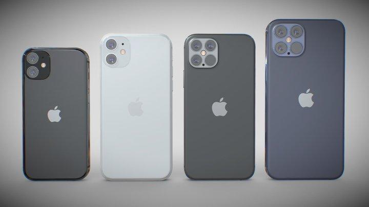 Apple iPhone 13 mini & 13 & 13 pro &13 pro MAX 3D Model