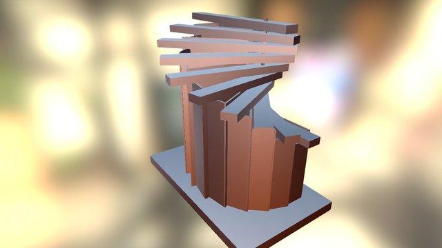 Spiralimba - reduced width vertical layout keys 3D Model
