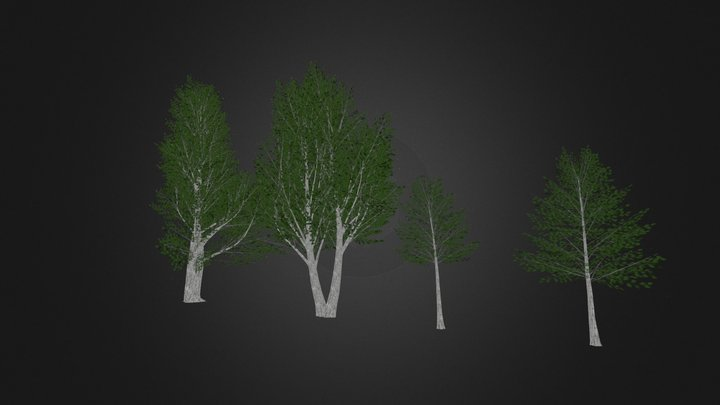 Low Poly SketchUp Trees 3D Model
