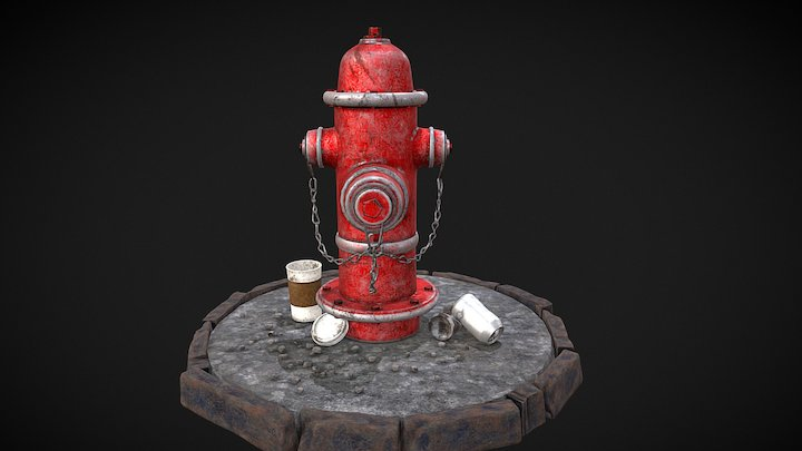 Fire Hydrant Turn Around 3D Model
