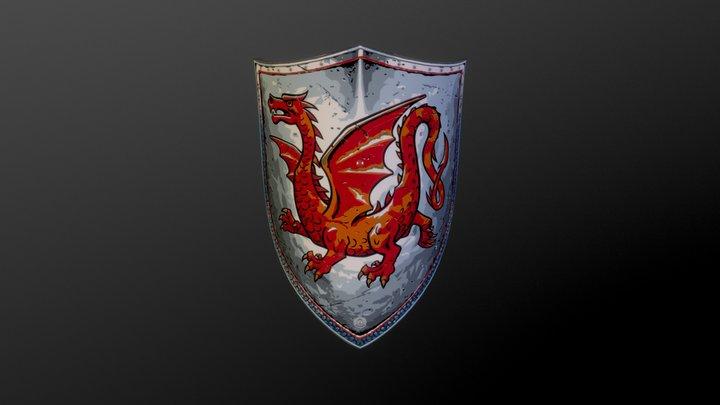 Dragon_shield_test_gold4 3D Model