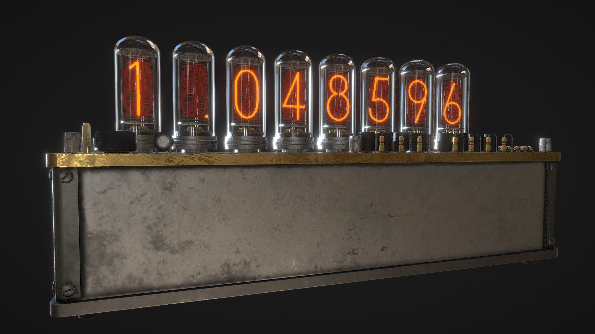 Steins Gate Divergence Meter Download Free 3d Model By G Salmon G Salmon 65646a3 Sketchfab