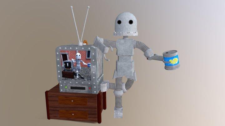 Tv Robot 3D Model