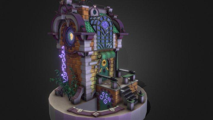 neon_house_final 3D Model