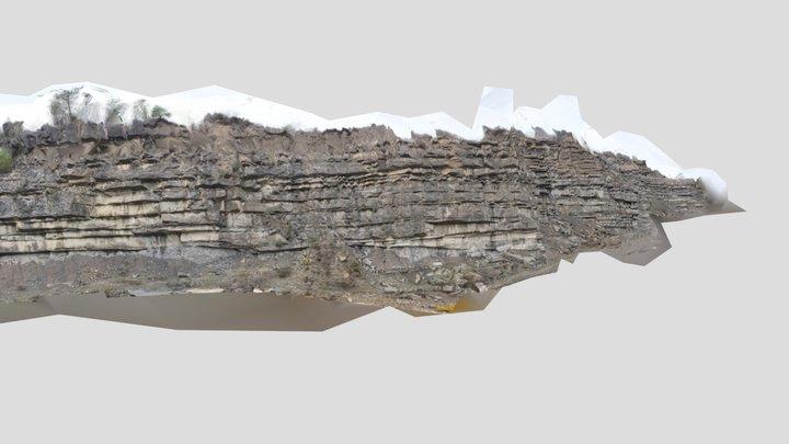 Ainsa Quarry Turbidites 3D Model