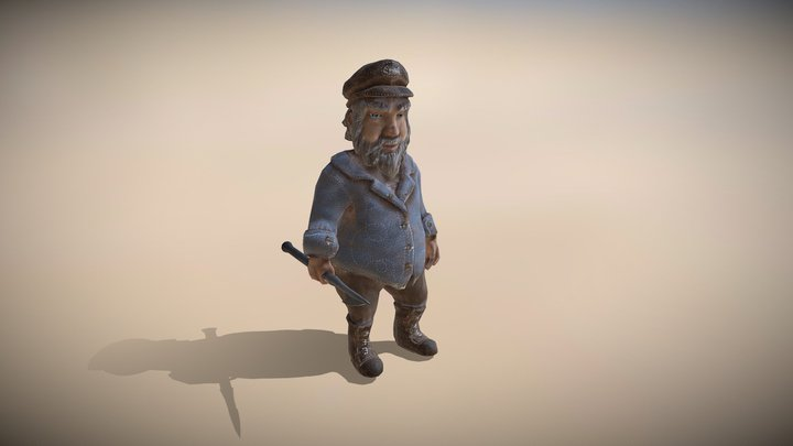 Cool Fisherman 3D Model