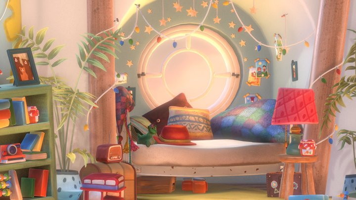 Paddington's bedroom 3D Model