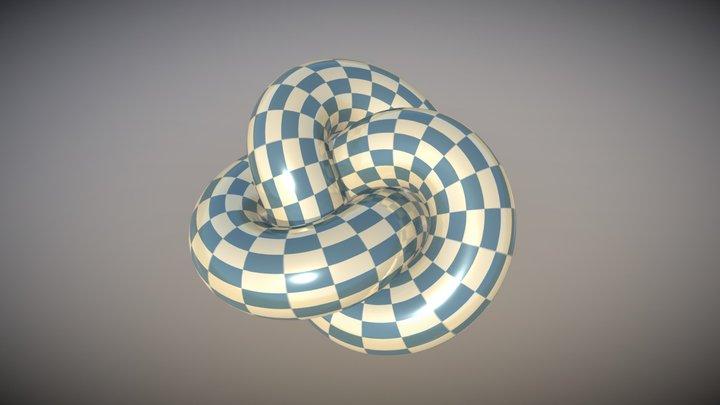 3D Twisted Looping Torus 3D Model