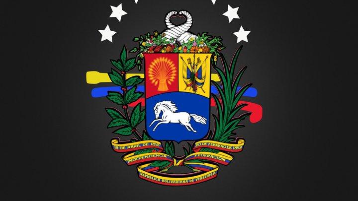 Escudo de Venezuela 3D Model