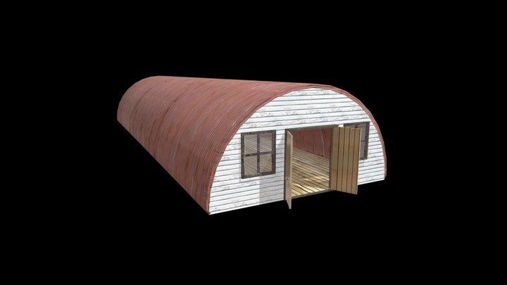 Nissen Hut 3D Model