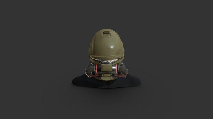 Doom 3 UAC Marine helmet remake 3D Model